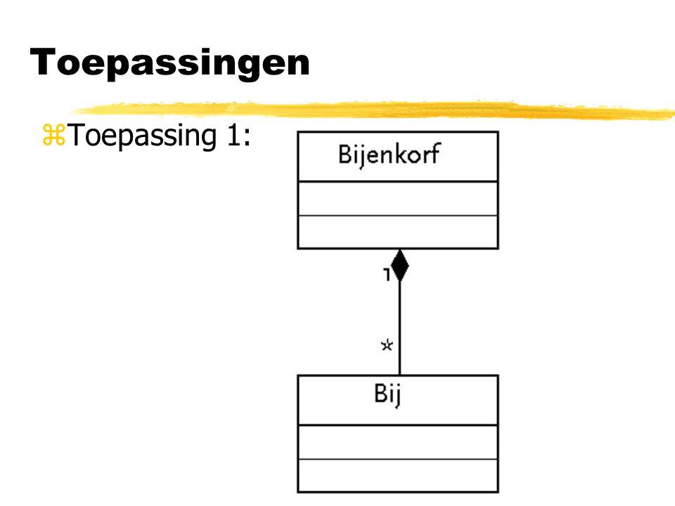 Toepassingen Toepassing 1: