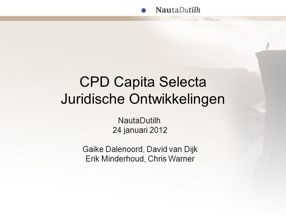 CPD Capita Selecta Juridische Ontwikkelingen