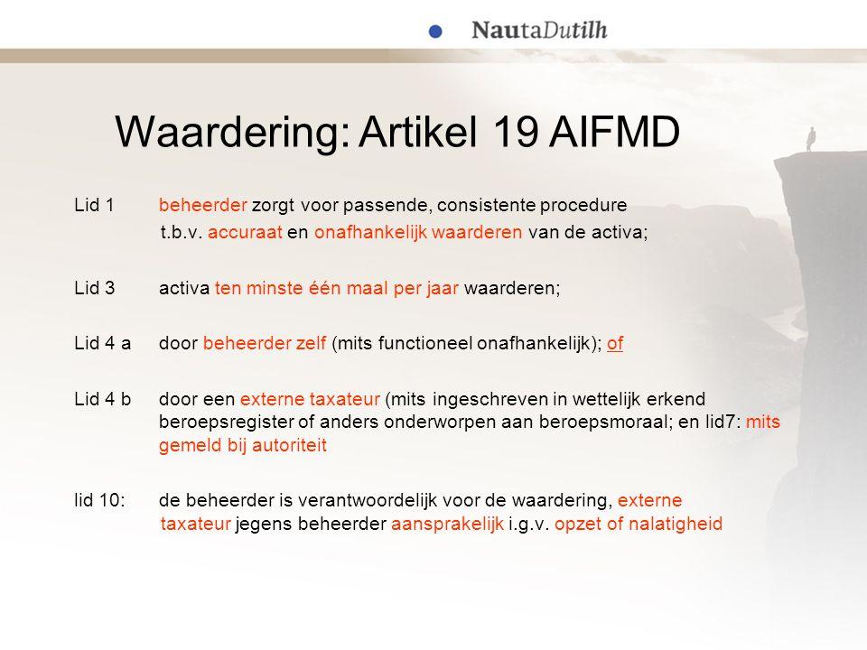 Waardering: Artikel 19 AIFMD