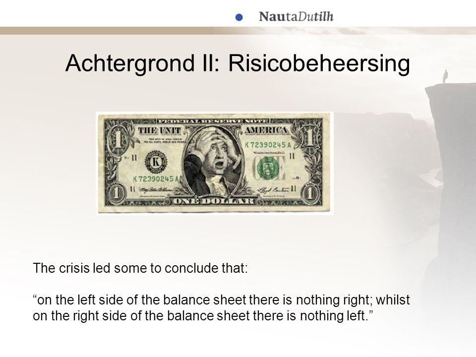Achtergrond II: Risicobeheersing