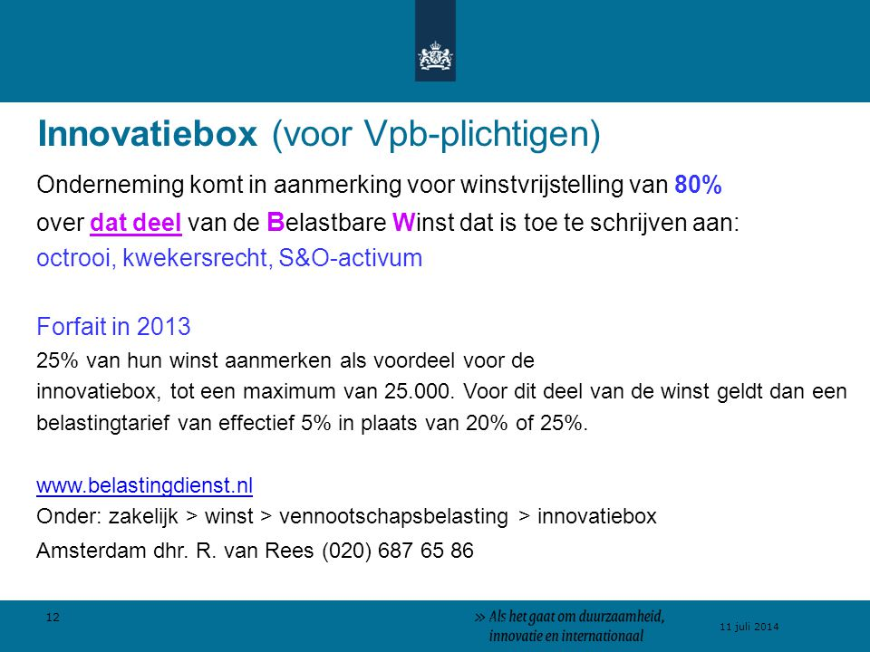 Innovatiebox (voor Vpb-plichtigen)