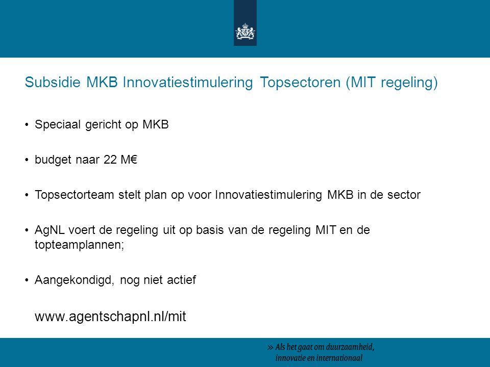 Subsidie MKB Innovatiestimulering Topsectoren (MIT regeling)
