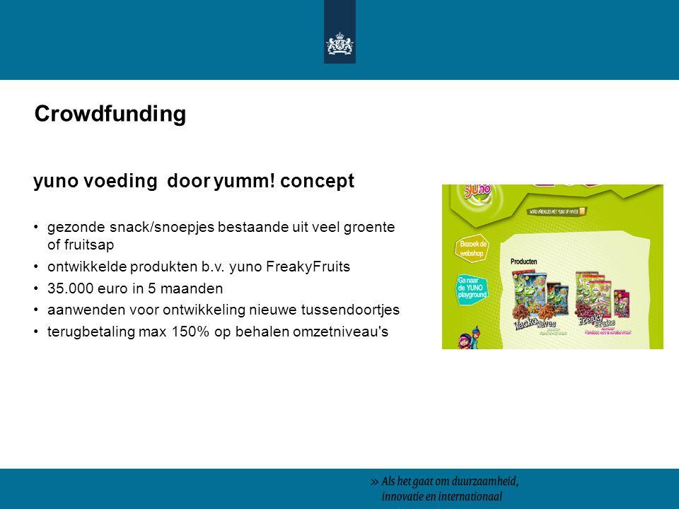 Crowdfunding yuno voeding door yumm! concept