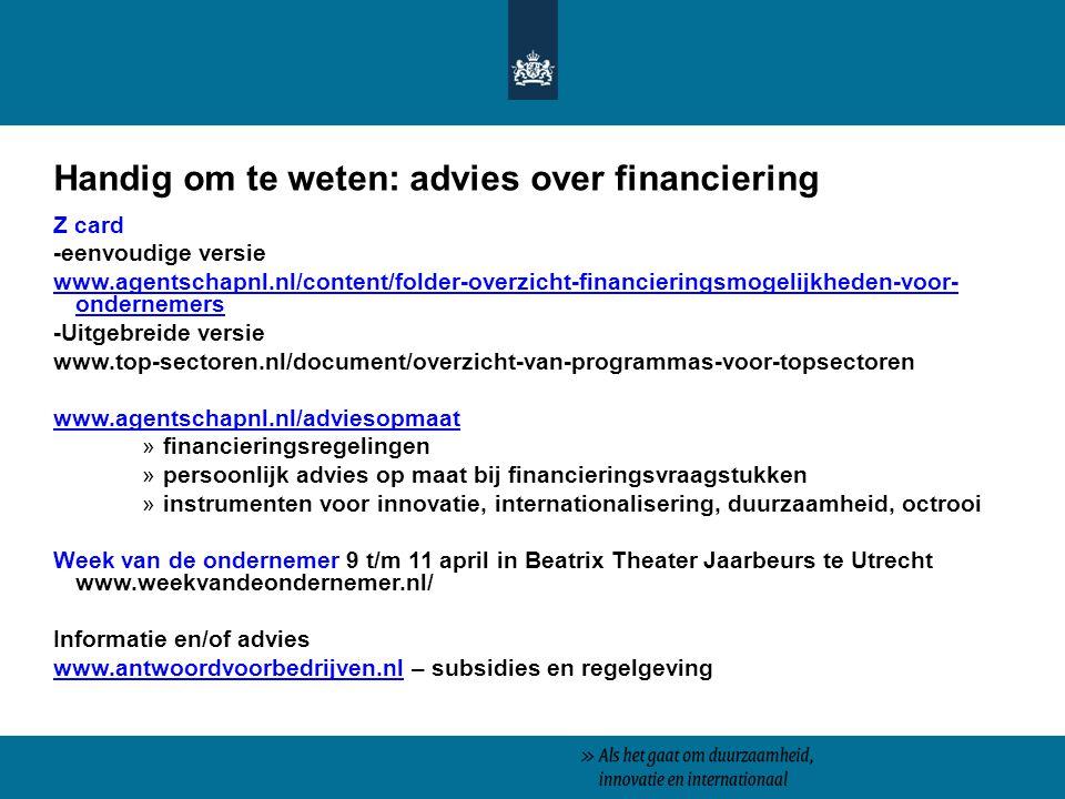 Handig om te weten: advies over financiering