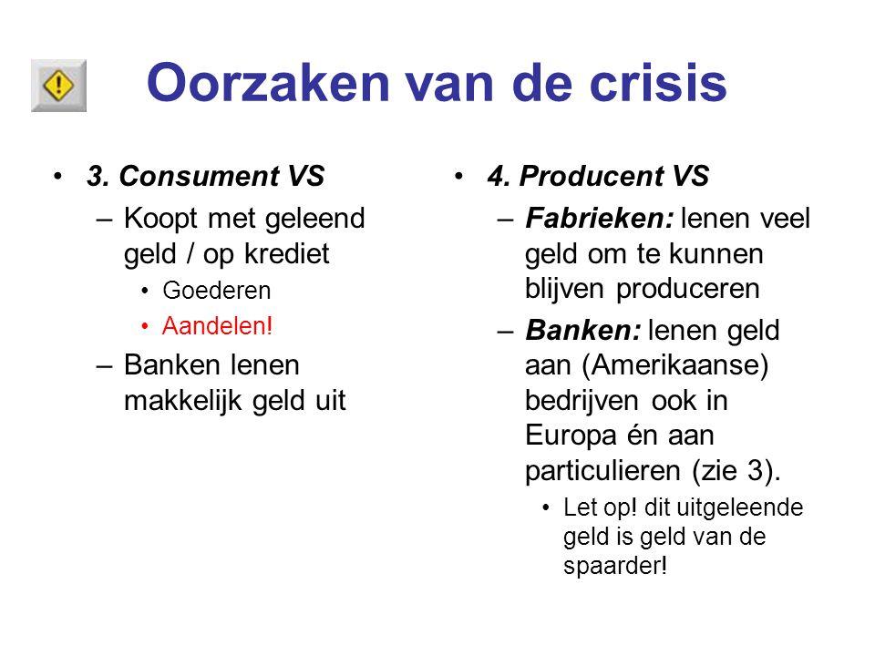Oorzaken van de crisis 3. Consument VS