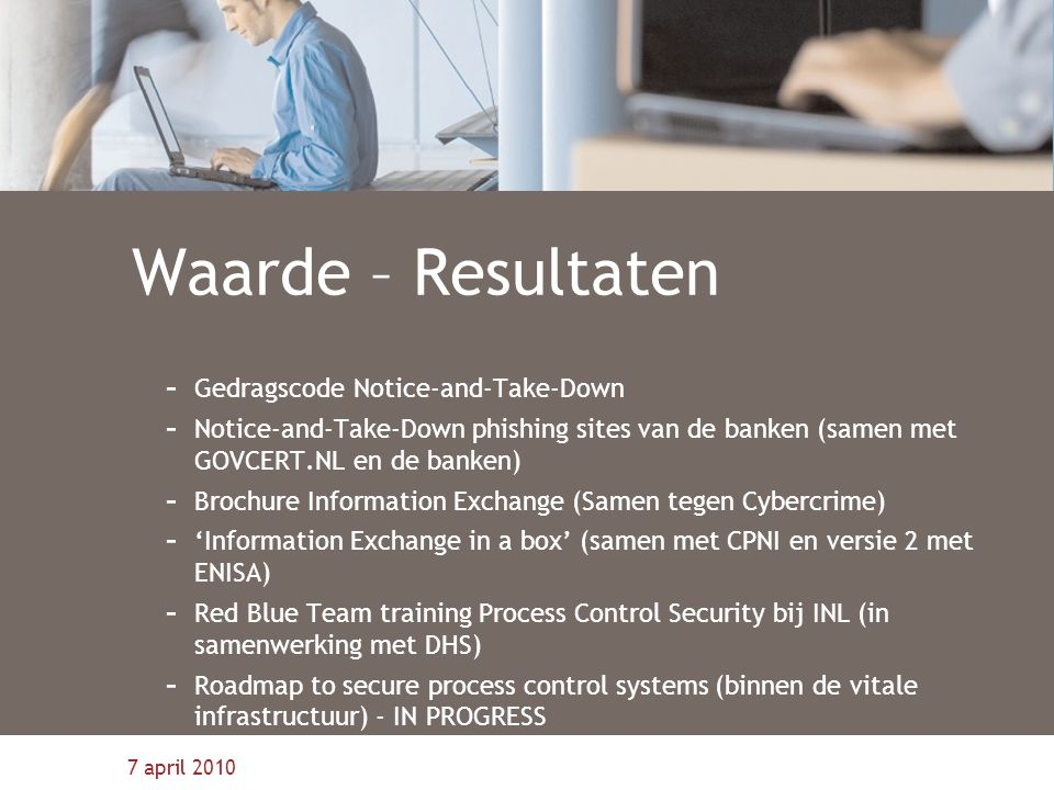 Waarde – Resultaten Gedragscode Notice-and-Take-Down