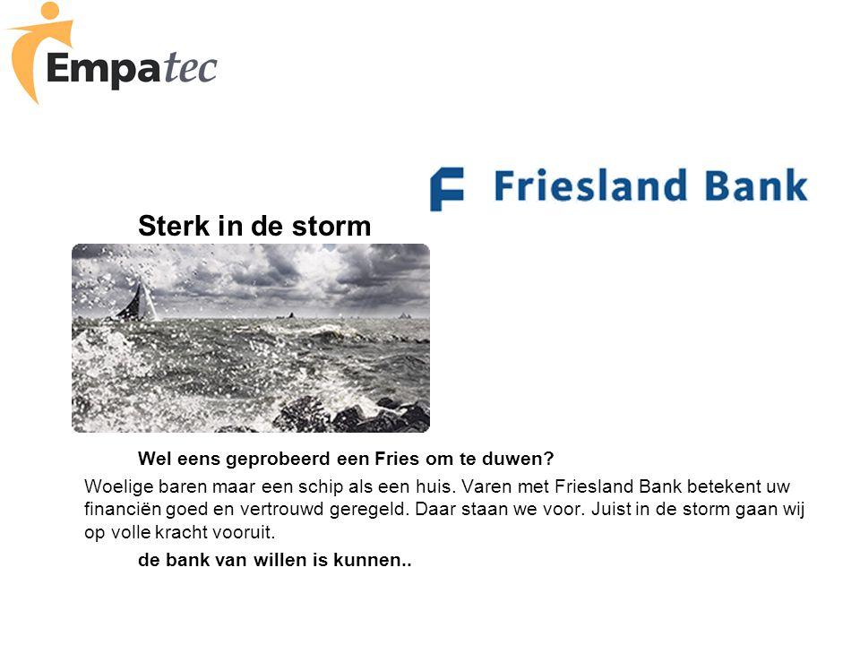 Sterk in de storm Wel eens geprobeerd een Fries om te duwen