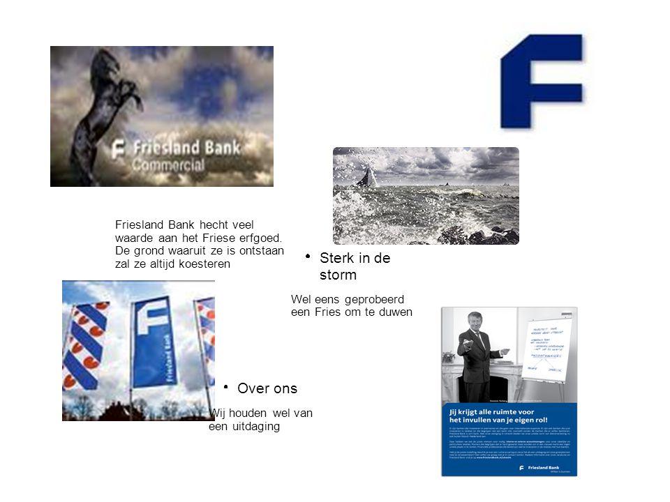 Sterk in de storm Over ons Friesland Bank hecht veel