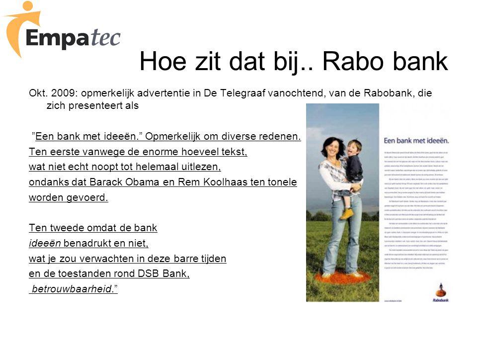 Hoe zit dat bij.. Rabo bank