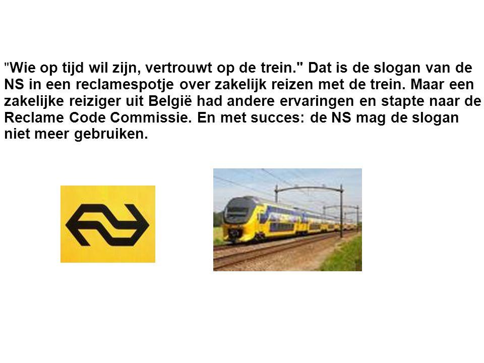 Wie op tijd wil zijn, vertrouwt op de trein. Dat is de slogan van de. NS in een reclamespotje over zakelijk reizen met de trein. Maar een.