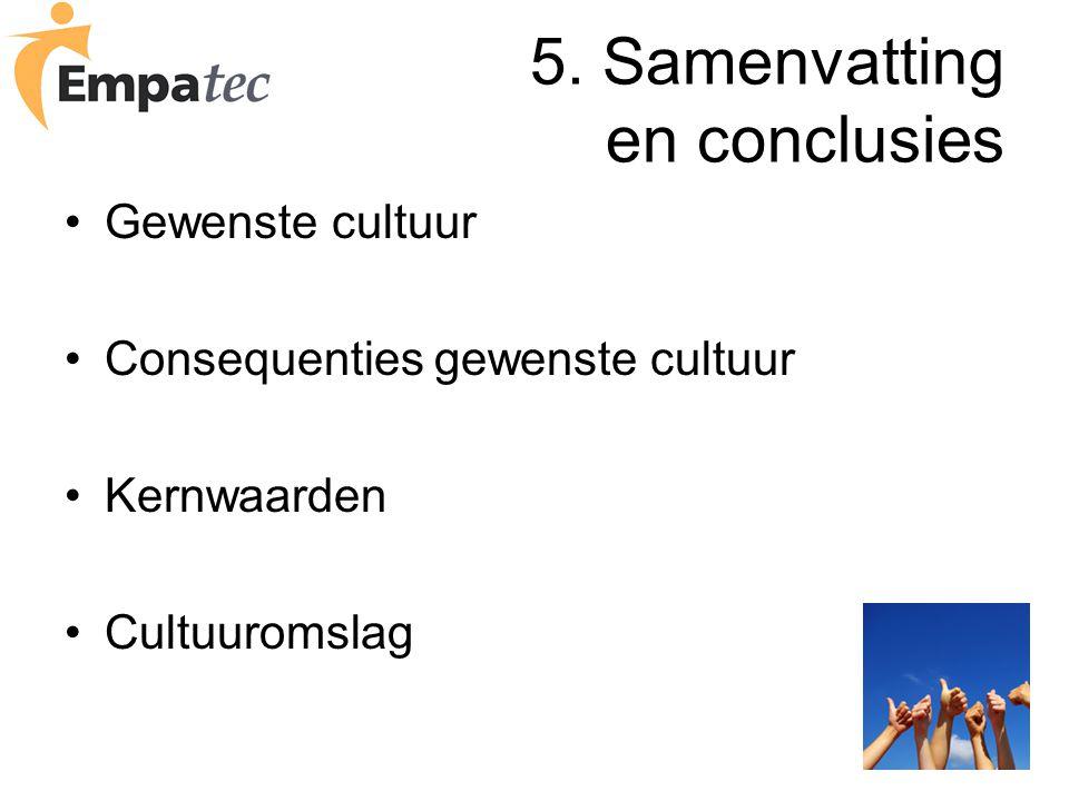 5. Samenvatting en conclusies