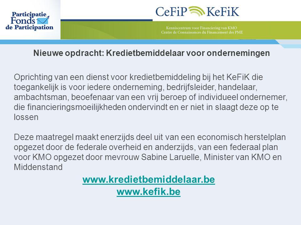 Nieuwe opdracht: Kredietbemiddelaar voor ondernemingen
