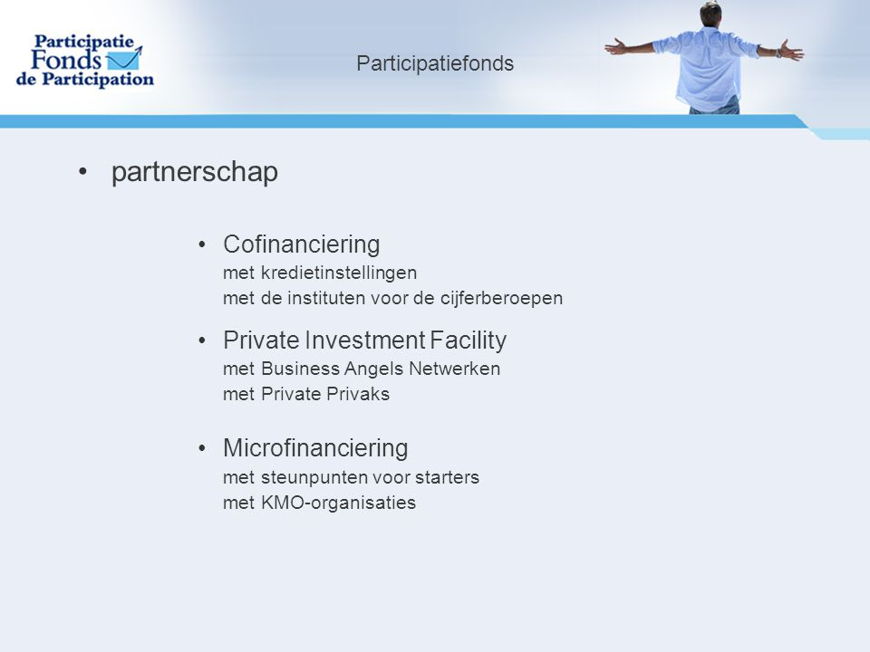 partnerschap Cofinanciering Private Investment Facility