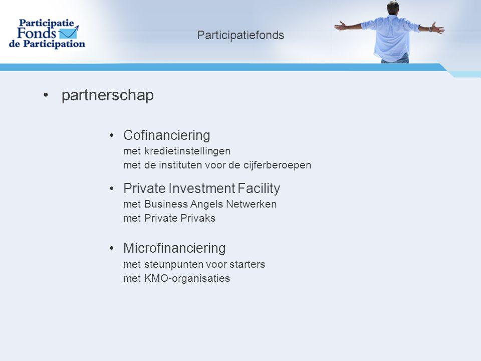 partnerschap Cofinanciering Private Investment Facility