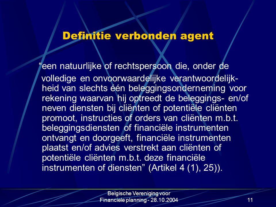 Definitie verbonden agent