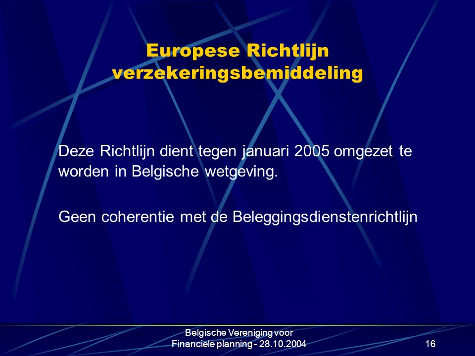 Europese Richtlijn verzekeringsbemiddeling