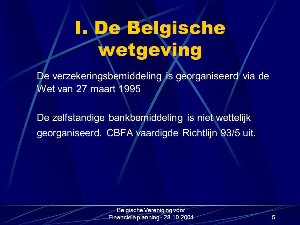 I. De Belgische wetgeving
