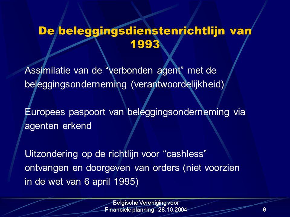 De beleggingsdienstenrichtlijn van 1993