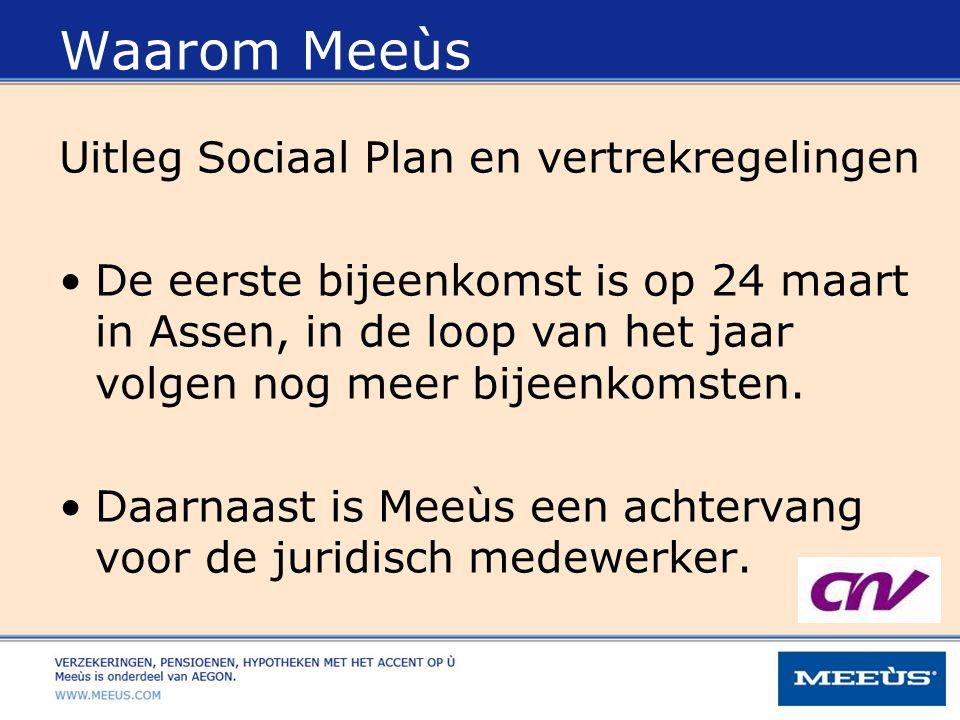Waarom Meeùs Uitleg Sociaal Plan en vertrekregelingen