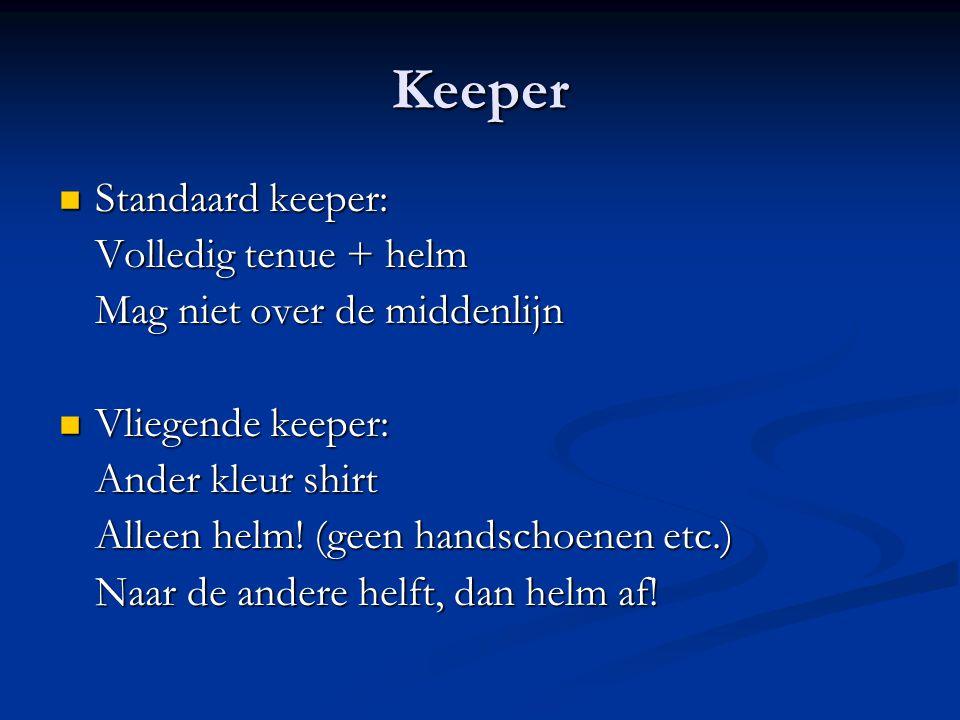 Keeper Standaard keeper: Volledig tenue + helm