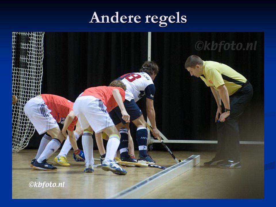 Andere regels Spelen via de balk Geen lange corner