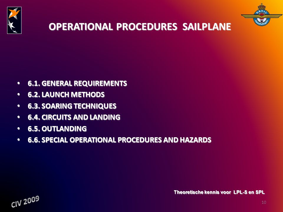 OPERATIONAL PROCEDURES ­ SAILPLANE