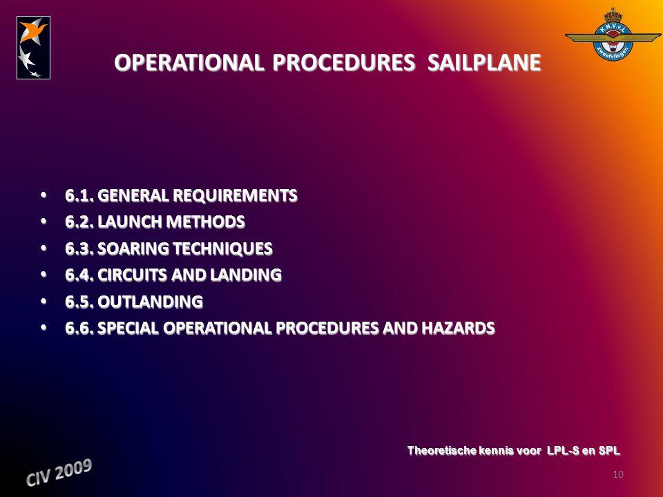 OPERATIONAL PROCEDURES  SAILPLANE
