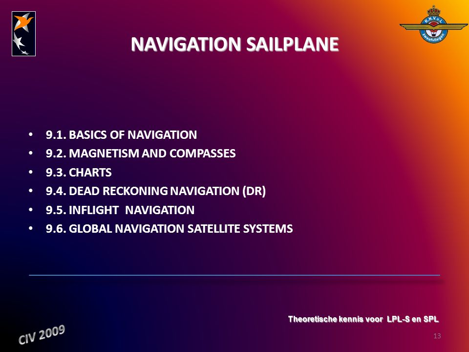 NAVIGATION SAILPLANE 9.1. BASICS OF NAVIGATION