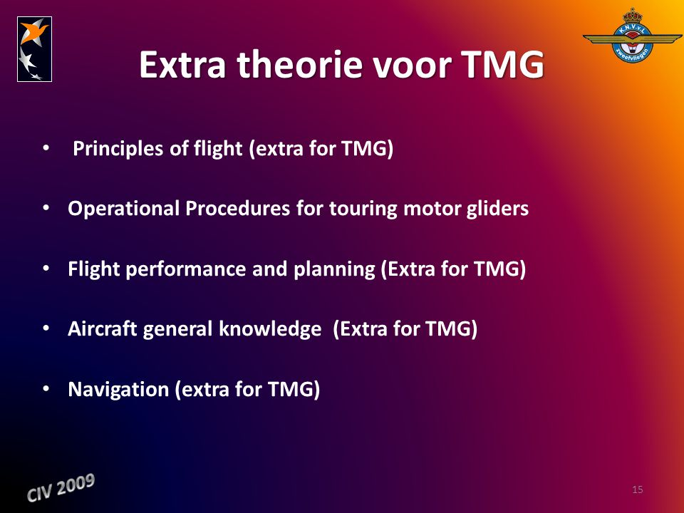 Extra theorie voor TMG Principles of flight (extra for TMG)