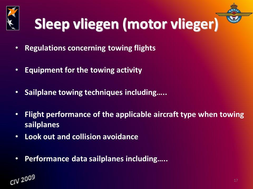 Sleep vliegen (motor vlieger)