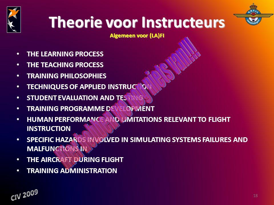 Theorie voor Instructeurs Algemeen voor (LA)FI