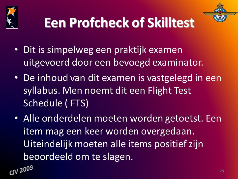 Een Profcheck of Skilltest