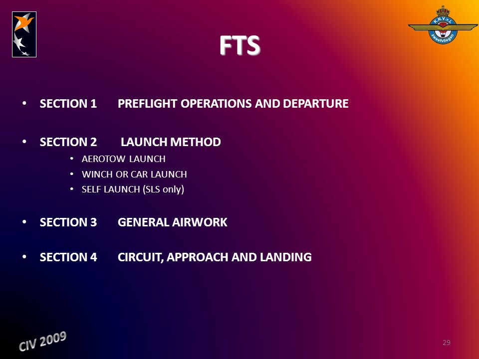 FTS SECTION 1 PREFLIGHT OPERATIONS AND DEPARTURE