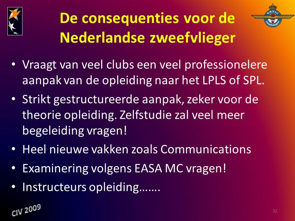 De consequenties voor de Nederlandse zweefvlieger