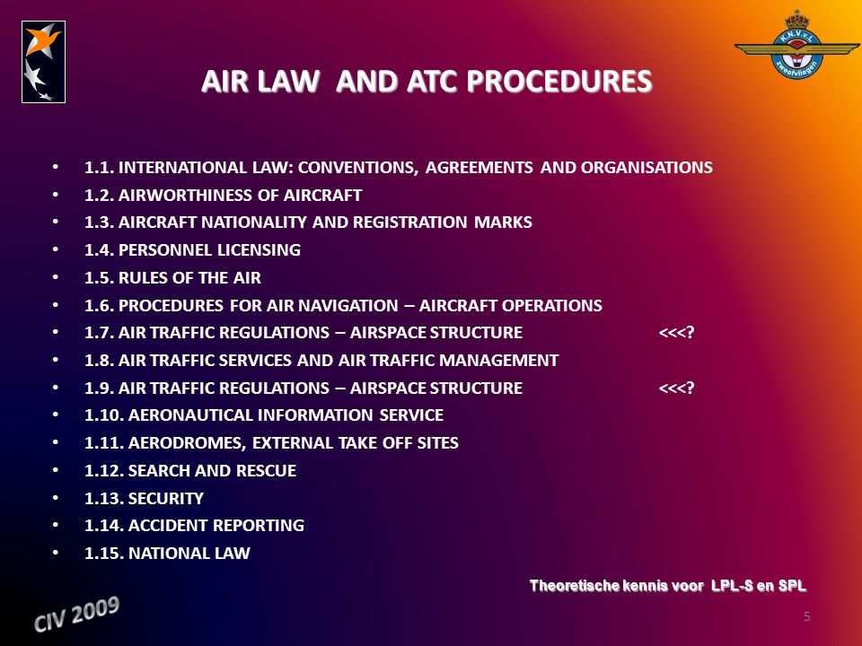 AIR LAW AND ATC PROCEDURES