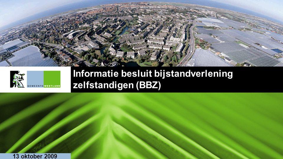 Informatie besluit bijstandverlening zelfstandigen (BBZ)