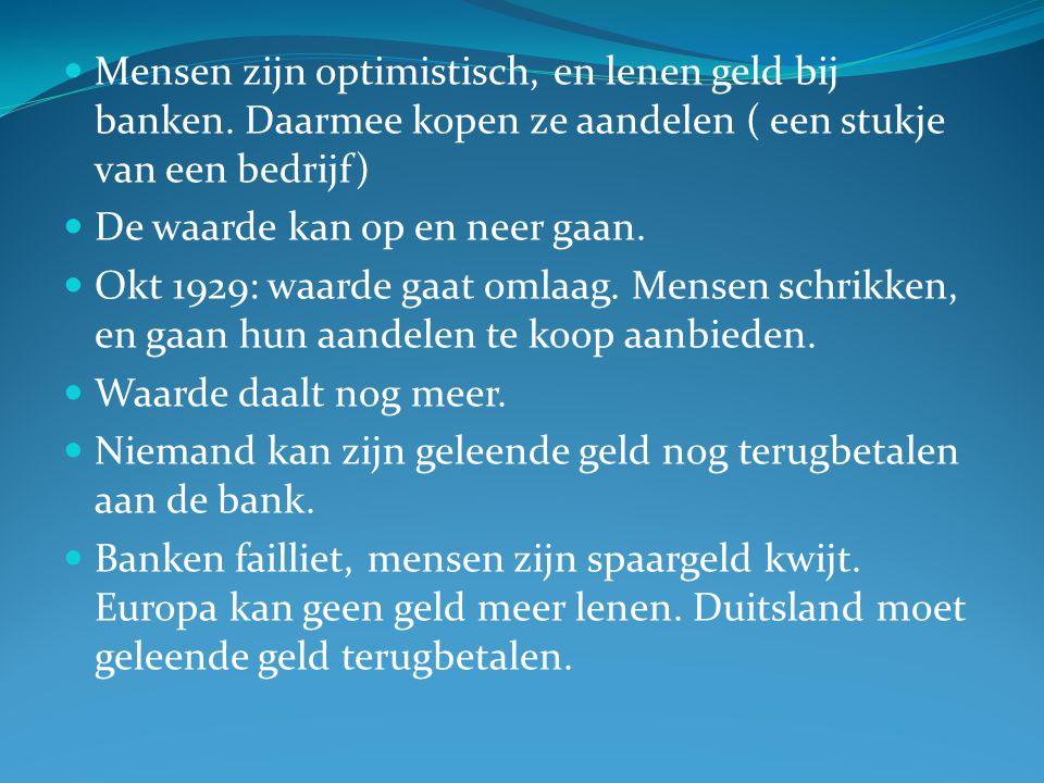 Mensen zijn optimistisch, en lenen geld bij banken