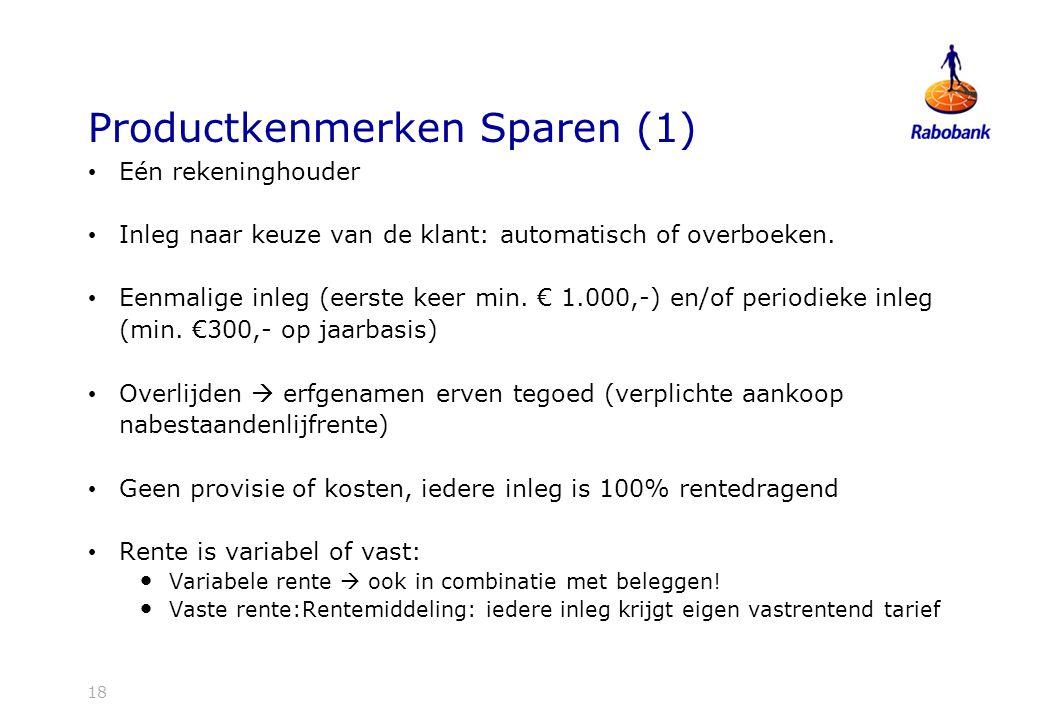 Productkenmerken Sparen (1)