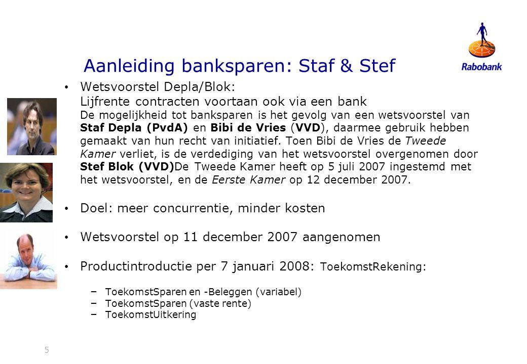 Aanleiding banksparen: Staf & Stef