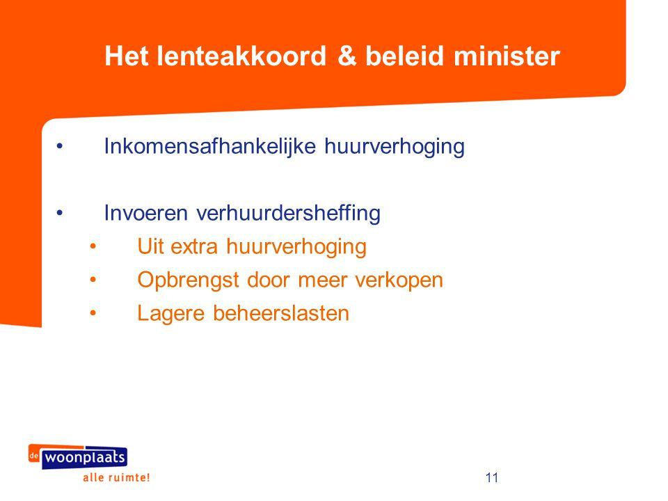 Het lenteakkoord & beleid minister