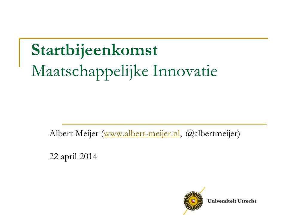 Startbijeenkomst Maatschappelijke Innovatie