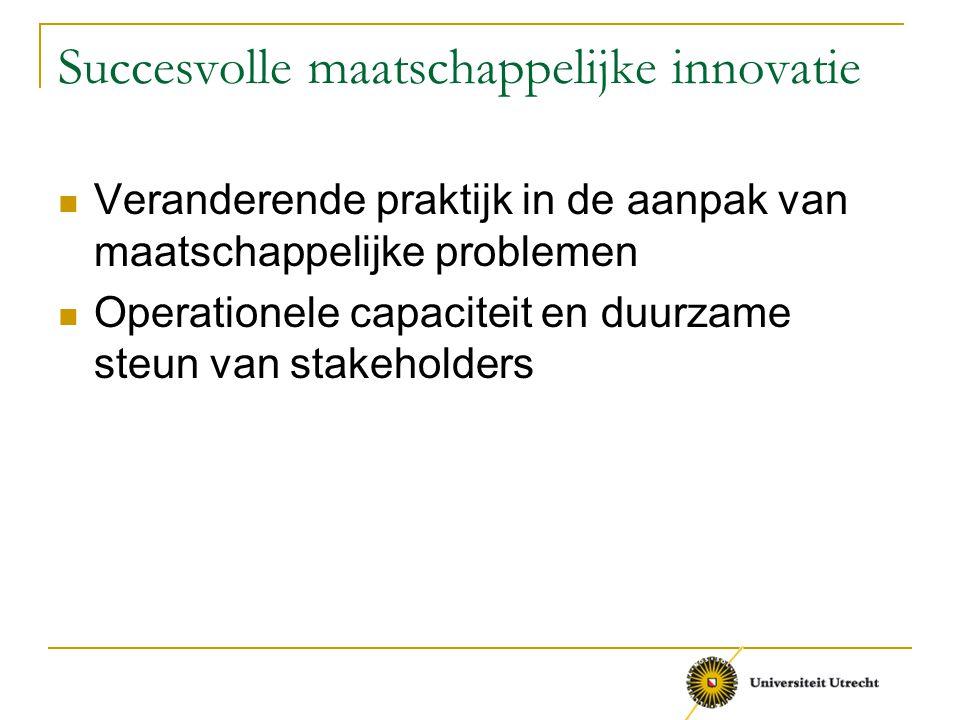 Succesvolle maatschappelijke innovatie