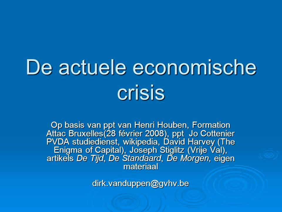De actuele economische crisis