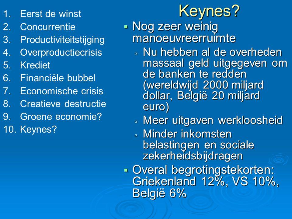 Keynes Nog zeer weinig manoeuvreerruimte