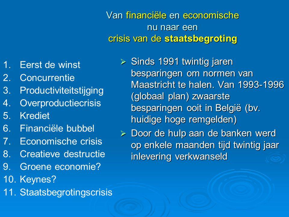 Van financiële en economische nu naar een crisis van de staatsbegroting