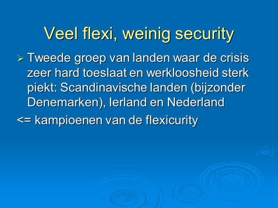 Veel flexi, weinig security
