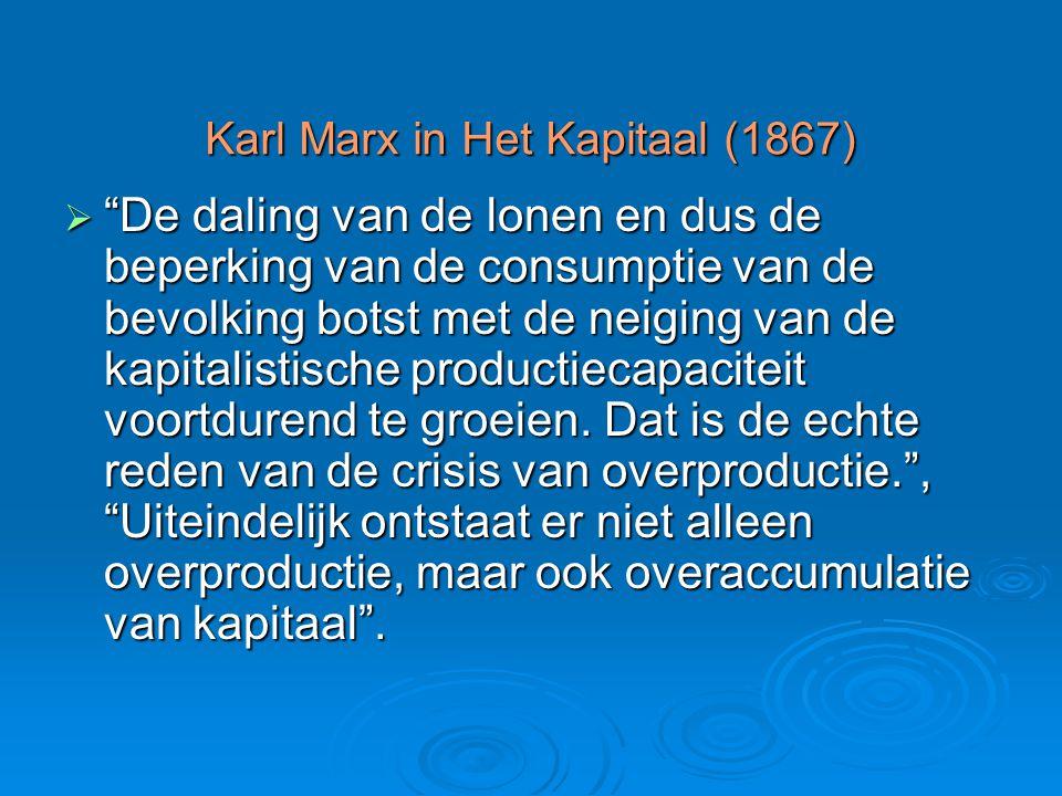 Karl Marx in Het Kapitaal (1867)