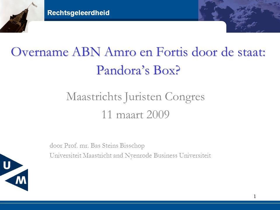 Overname ABN Amro en Fortis door de staat: Pandora's Box