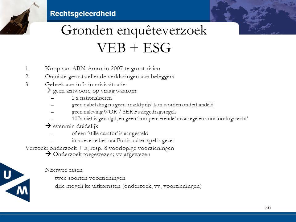 Gronden enquêteverzoek VEB + ESG