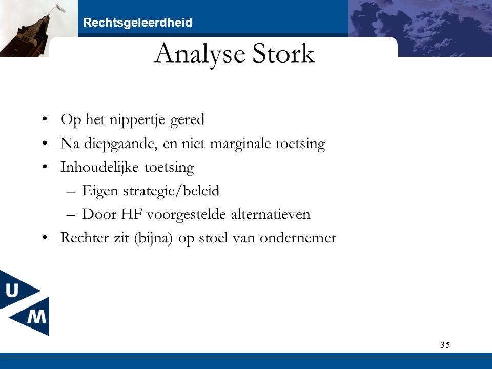Analyse Stork Op het nippertje gered